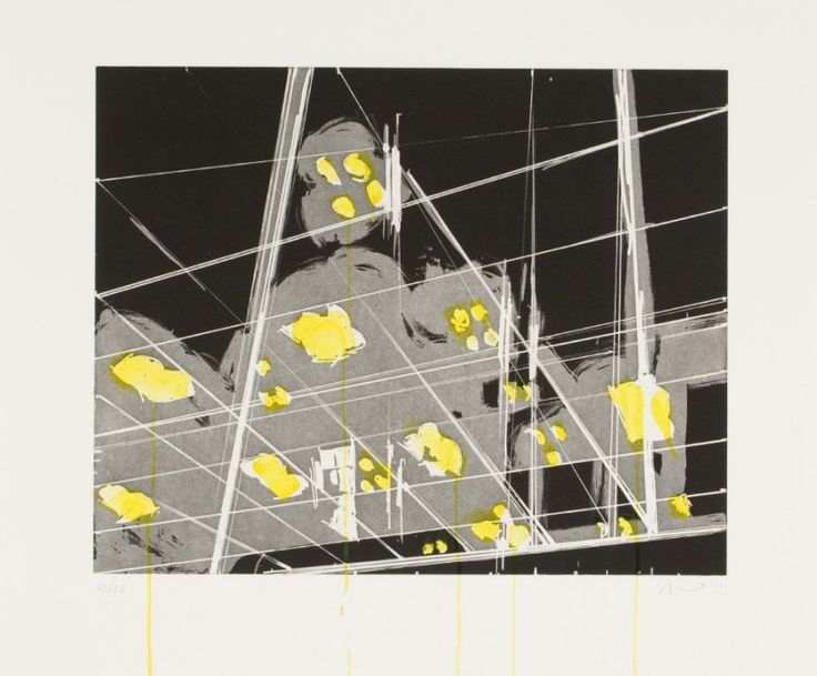 Spots 10 (2011). Aquatint and Hand-Painting