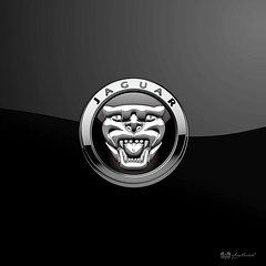 Jaguar new Badge-Logo on Black  by Serge Averbukh