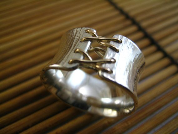 Corset Ring by stonesthrowjewelry on Etsy, $85.00