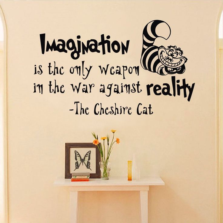Alice In Wonderland Wall Decal Quote Imagination Is The