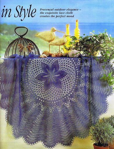 Kira knitting: Scheme knitted tablecloths 40