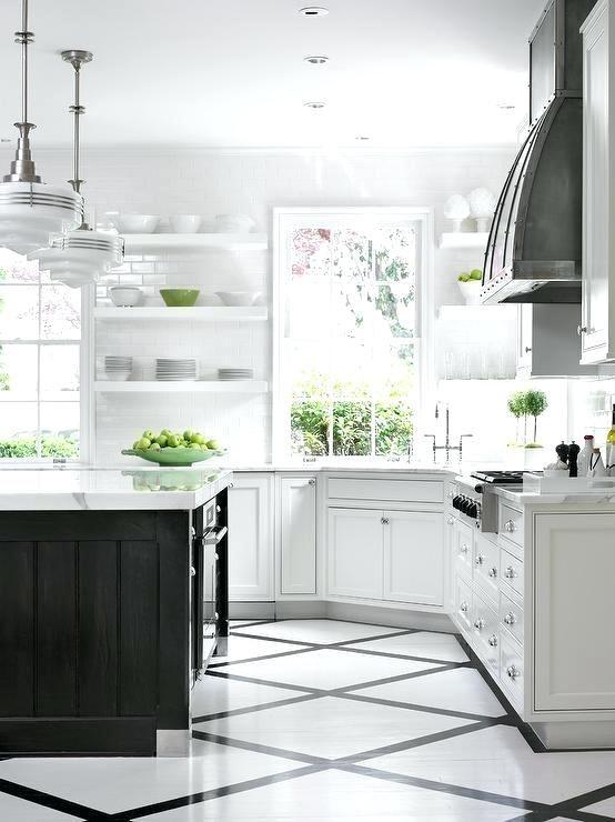 Black And White Kitchen Floors Black And White Diamond Pattern Kitchen Floor White Tile Kitchen Floor Kitchen Flooring White Kitchen Tiles