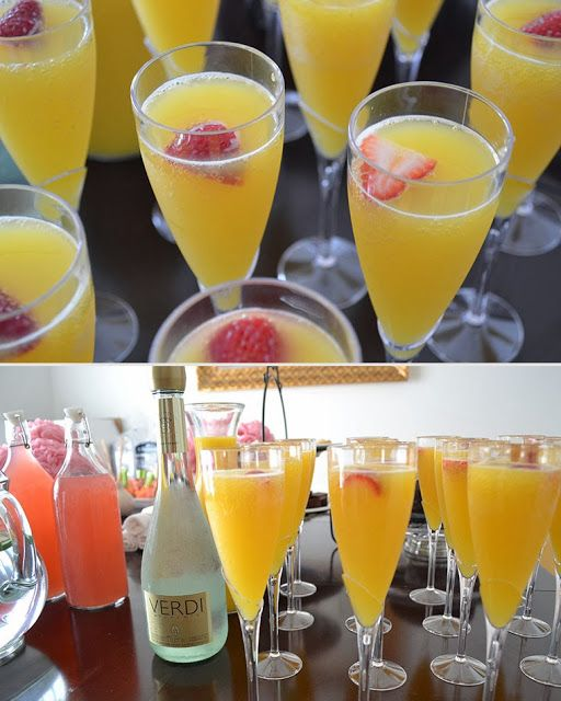 Mimosas - Primp and Pamepred Spa theme bridal shower by Cordier Events