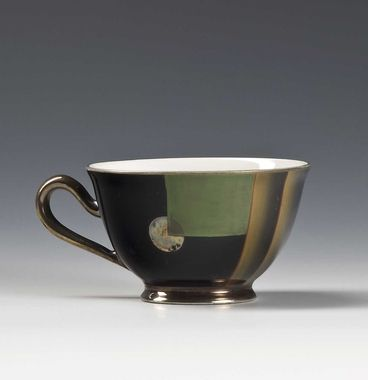 Coffee cup by Nora Gulbrandsen for Porsgrund Porselen. Date 1931-32