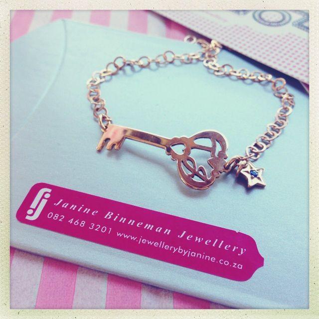 Monogram Key bracelet, 21st gift
