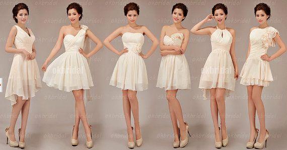 bridesmaid dress online short prom dress chiffon prom by okbridal, $99.99