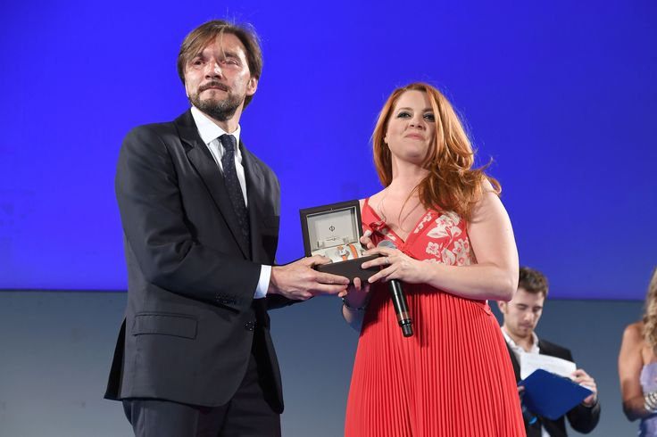 During the Awards Ceremony of #TaorminaFilmFest on Sunday 12th of June 2016, we were honoured to present an award to Italian #singer Noemi with a Petite Promesse 20190. #baumeetmercier #womenswatch #celebratemoments #petitepromesse Photo credit: Copyright Notice - 2016 Venturelli Credit - Getty Images for Baume & Mercier