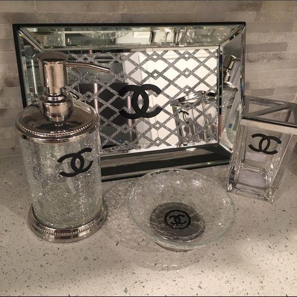 Chanel Bathroom set Chanel Bathroom 4 piece set.... CHANEL Accessories
