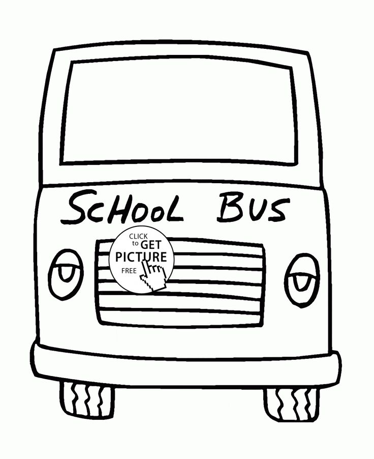 School Bus Front Side coloring page for toddlers