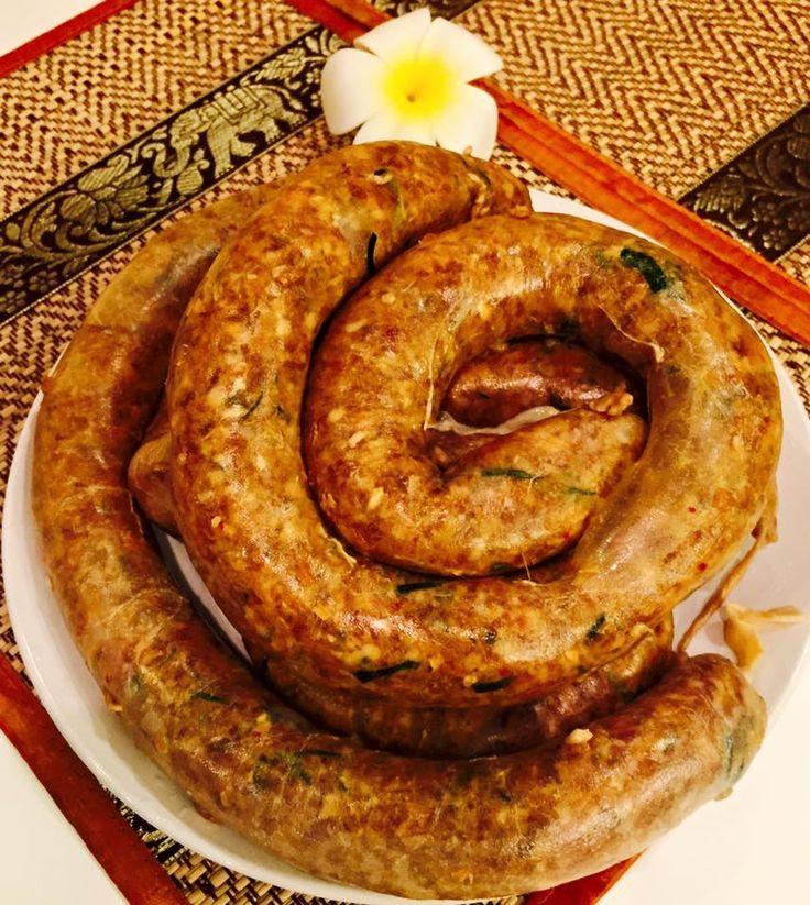 4月のレッスン#2:タイのソーセージレッスン:チェンマイ料理ハーブソーセージ(サイウア)