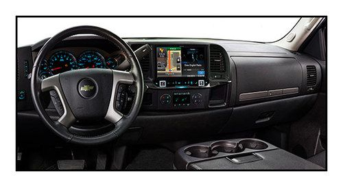 "Alpine - 9"" - Built-In GPS - CD/DVD - Built-In Bluetooth - Built-In HD Radio - In-Dash Deck for Most 2007-2013 GM Trucks - Black"