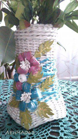 Поделка изделие Плетение И я готовлюсь к празднику  Бумага газетная Кожа Салфетки Трубочки бумажные фото 2