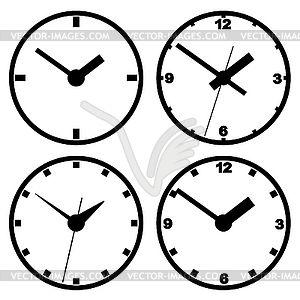 Настенные цифровые часы - изображение в векторе / векторный клипарт
