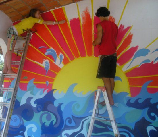 17 best ideas about school murals on pinterest for Mural art designs