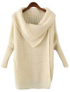 Beige Lapel Long Sleeve Batwing Loose Sweater US$32.95http://www.sheinside.com/Beige-Lapel-Long-Sleeve-Batwing-Loose-Sweater-p-144623-cat-1734.html