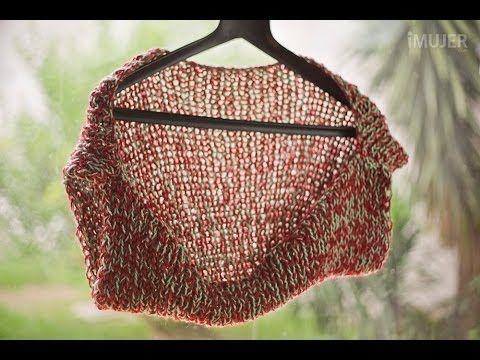 Cómo hacer un chaleco tejido a dos agujas - YouTube