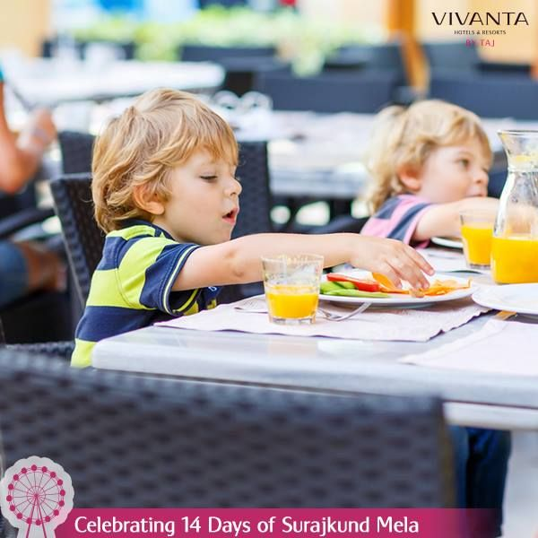 #Day7  We've painted the most colorful menu for the little ones! Come over and enjoy at Vivanta by Taj - Surajkund. Know more: http://on.fb.me/1ztW38e  #VivantabyTaj #Food #Kids #Fun #Children