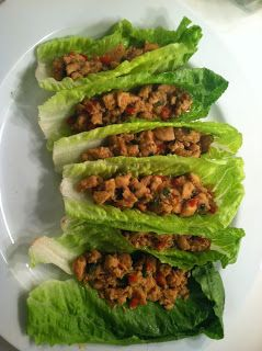 Vietnamese Chicken lettuce cups.  Lo Carb