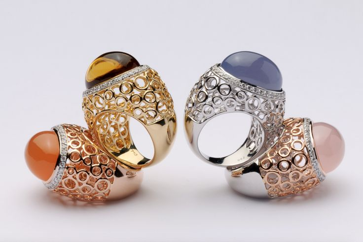 #Spheres collection from Ramon Jewellers. #finejewellery #luxuryjewellery #jewelry #diamond #jewellry #diamondjewelry #gold #ring #rubi #zafiro #anillos