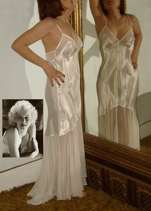 Vintage Hollywood Glamour Negligee Gown Jean By