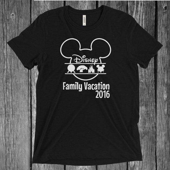 SVG & PNG Digital File Download Disney World 4 Theme Parks Family Shirt Animal Kingdom, Magic Kingdom, Epcot Hollywood Studios Iron-On