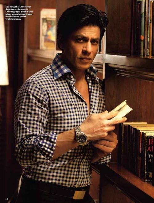 Checkered and blue. #SRK #Shahrukh #Bollywood