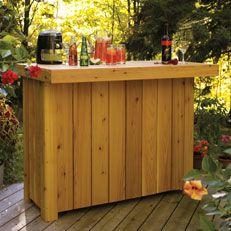 DIY Patio Bar