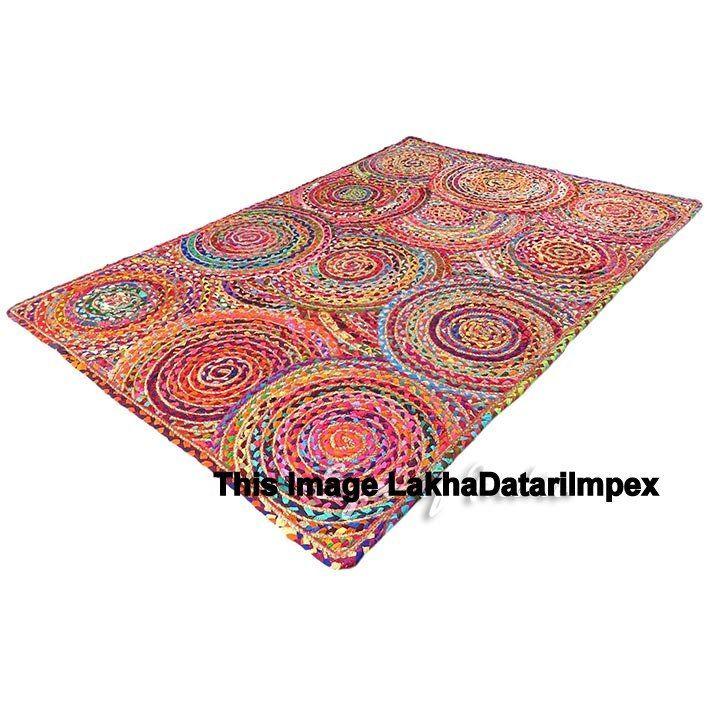 Handmade Floor Rug Handwoven Jute