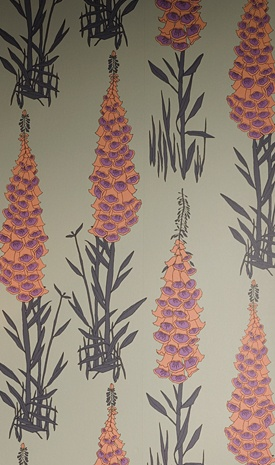 Foxglove wallpaper, Hothouse by Suzy Hoodless collection, Osborne & Little W5805/01 $154