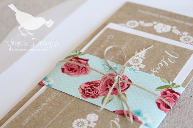 The Barn Owl Suite, a belly band ties all of your stationery together and can bring in colour or texture to your suite :: by Venecia Designs