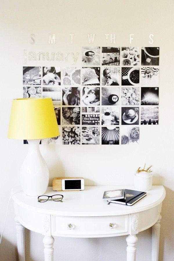 DIY Instagram Wall Calendar