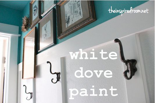 what color is that turquoise type of color? white dove paint ben moore