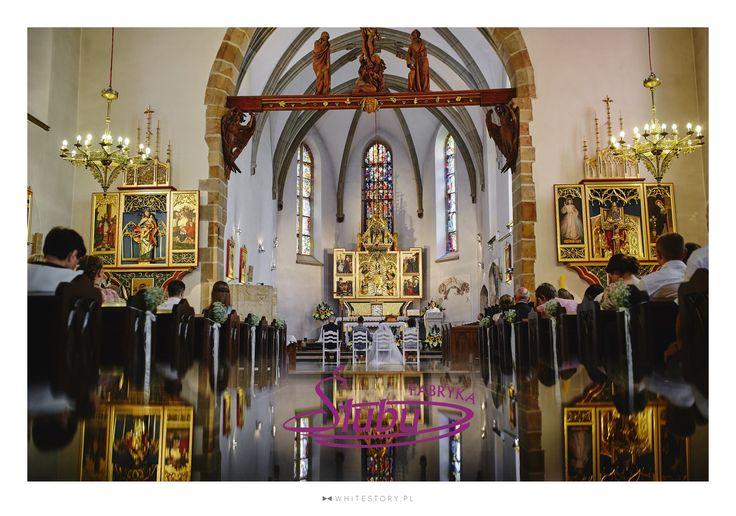 Dekoracja kościoła do ślubu Fara Jasło