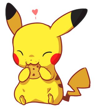 Pikachu eating a cookie :3 so cute