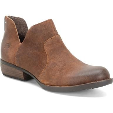 Born Kerri Ankle Boots - Womens Brown Tobacco Distressed
