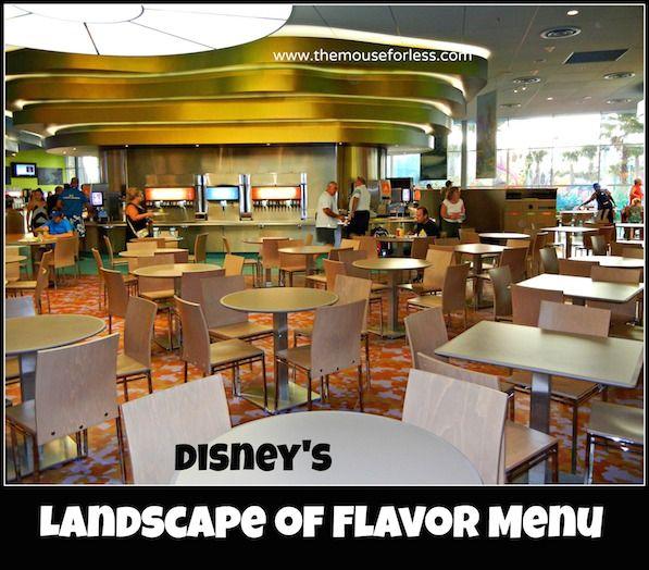 Landscape of Flavor Menu at Art of Animation Resort #DisneyDining #resort