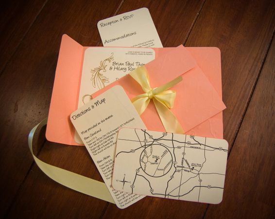 DIY Wedding Challenge: Pocketfold Invitation using 8.5X11 paper - Project Wedding