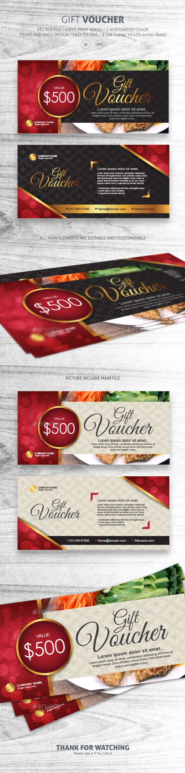 162 best Voucher Template Design images on Pinterest Gift