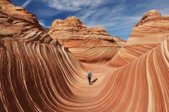 """северная часть склона Койот-Бют,известная как """"Волна"""". Аризона,США"""