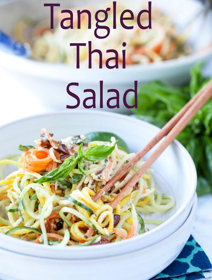 Must-try vegetable spiralizer recipe: Gluten-free Thai salad