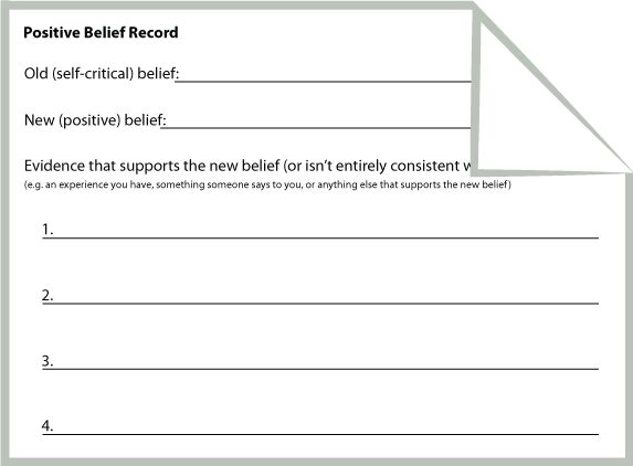 Positive Belief Record