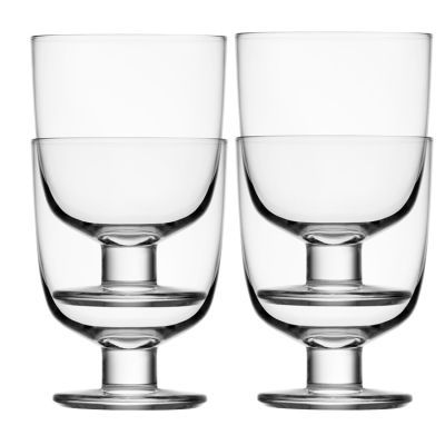 Lempi - stackable Wine glasses by Matti Klenell for finnish Ittala. Great for small spaces.