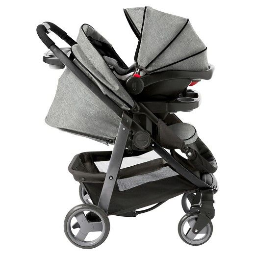 "The Graco Modes Click Connect Stroller Travel System features the lifestyle stroller that truly grows with your child from infant to toddler. It includes the Graco top-rated SnugRide Click Connect 35 Infant Car Seat, rear facing from 4-35 lb and up to 32."" It is 3 stylish strollers in 1 and provides 10 versatile riding options. The reversible stroller seat allows your baby to face you, reclines flat to create an infant carriage and then converts to a forward-facing toddler seat. Convenience…"