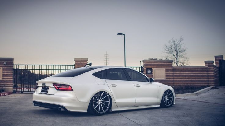 White Audi A7 Tuning Wallpaper Free High Quality Download