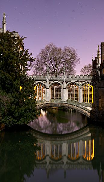 Bridge of Sighs within St. John's College at Cambridge University in England