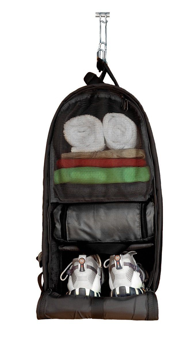 The Glo Bag – The Ultimate Gym Locker Organizer Backpack: Silver | The Glo Bag