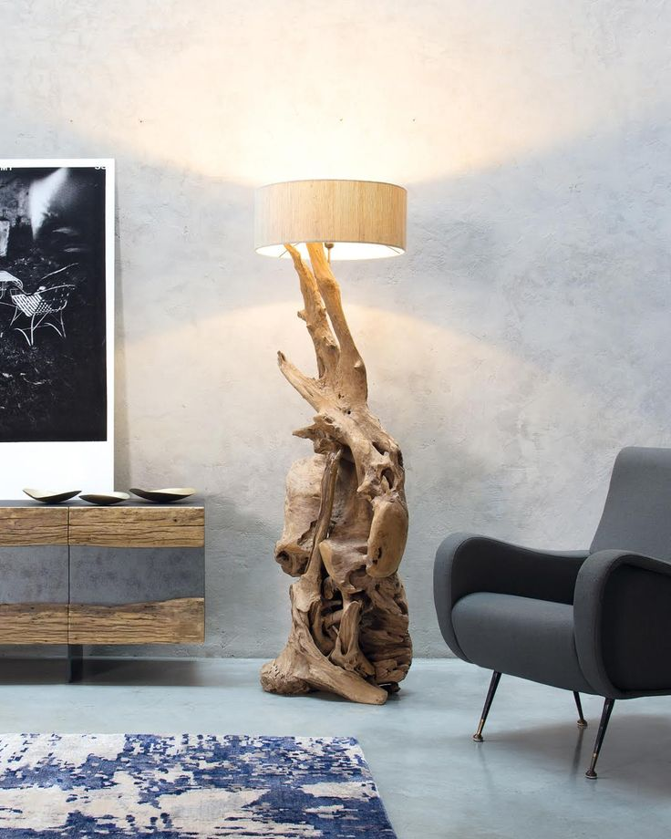 ROOT | A lamp that takes its shape from a natural root, used to create the base on which the lampshade rests. Customizable with the color of your choice, it's a truly unique piece of furniture.  #NatureDesign #madeinitaly