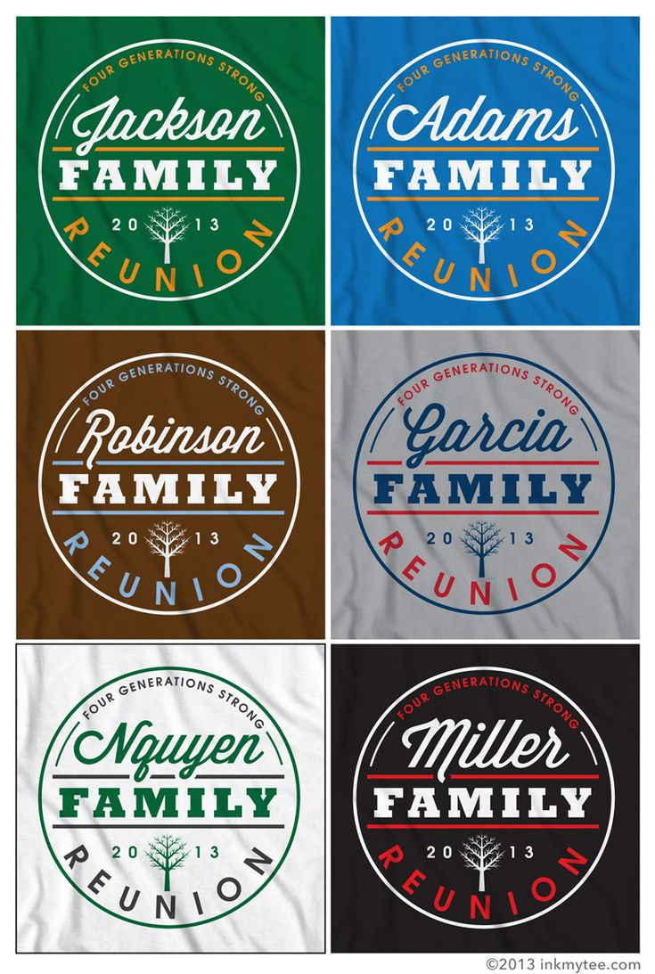 More Free Family Reunion T-shirt Design Options