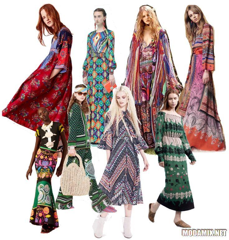 Стиль хиппи в моде весной 2017