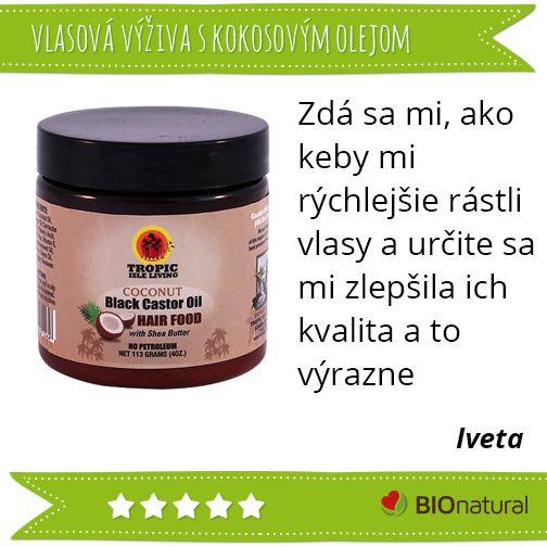 Hodnotenie vlasovej výživy s kokosovým a jamajským čiernym ricínovým olejom http://www.bionatural.sk/p/vlasova-vyziva-s-kokosom-a-ciernym-ricinovym-olejom-113-g?utm_campaign=hodnotenie&utm_medium=pin&utm_source=pinterest&utm_content=&utm_term=vlas_vyziva_kokos